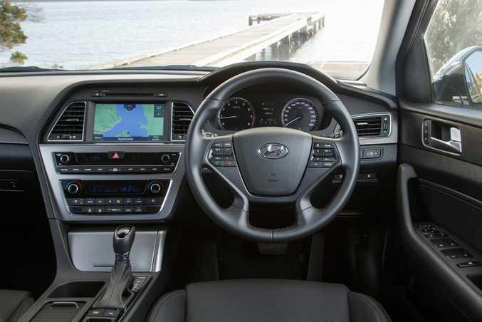 Hyundai Sonata Premium cabin. Photo: Contributed