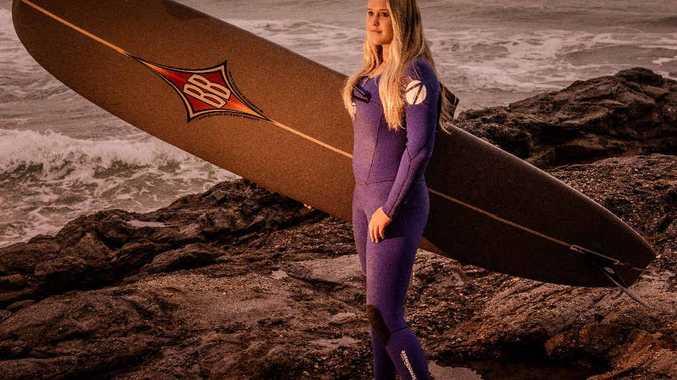 SURFING LIFE: Australian Under-18 Girls Longboard champion Lily Ellis, 16, prepares for the NSW Longboard Titles in Yamba.