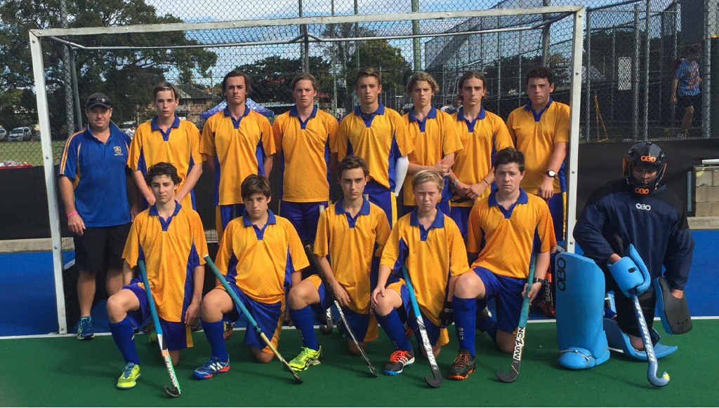 BACK-TO-BACK: The Trinity Catholic College boys hockey team after winning the NSWCCC championship at Grafton.