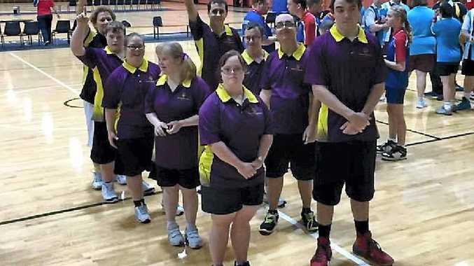 Mackay Fire's Kimberly Doyle (coach), Frank De Battista, TJ Straw, Tegan O'Keeffe, Shannon Holford, Georgia Knoll, Anthony Cahill, Donna Barnett, Shane Cooks competed in Queensland's inter-regional basketball games.