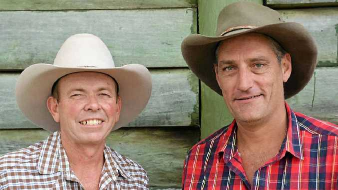 CLASSIC COUNTRY: Dean Perrett and Glen Albrecht will perform traditional country music at their show in Bouldercombe this weekend.