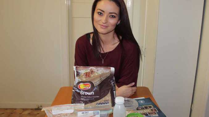 HUNGRY TO HELP: This is all that Laura Neagle is able to eat while she is undertaking the Act For Peace Ration Challenge, raising money for refugees fleeing conflict in Burma.