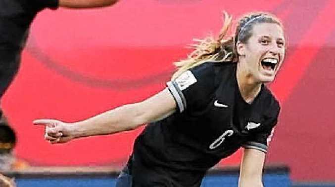 GOAL: Rebekah Stott scored at the Women's World Cup in Canada.