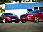 2015 Ford Mondeo Trend (left) with Hyundai Sonata. Photo: Iain Curry / Sunshine Coast Daily