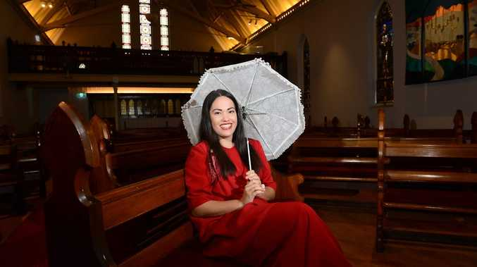 READY FOR A SHOW: Maddy Cross from the Ipswich Orpheus Chorale will perform with more than 60 other singers at the iconic church.
