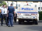 LOCKDOWN: Bundaberg State High School goes into lockdown at approximately 11:15am as police seal off the school after reports of a person brandishing a knife were received. Photo: Max Fleet / NewsMail