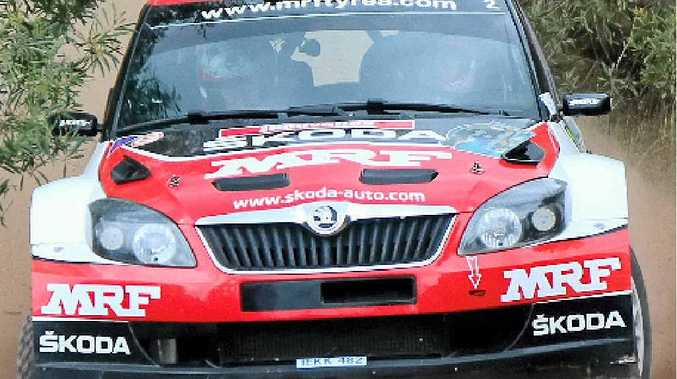 RACE FAVOURITE: Pontus Tidemand of Sweden in his Skoda Fabia Super 2000.