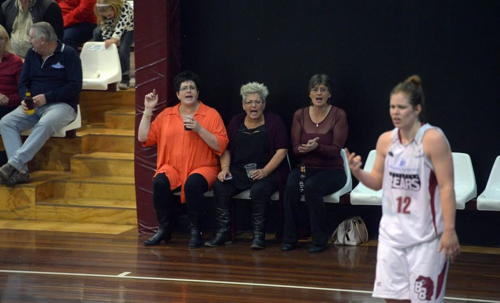 WOMEN'S BASKETBALL: Bundaberg Bears supporters get vocal in the game against Gladstone Port City Power at WIN Stadium on Saturday, 20 June 2015. Photo: Max Fleet / NewsMail