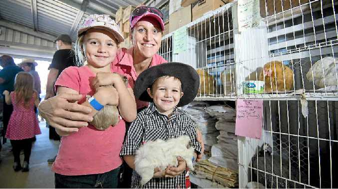 Connor Taylor and children Casey, 7, and Joe, 4, get to take home two new guinea pigs from the show.
