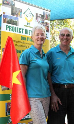 BUILDING BRIDGES: Claire and David Simpson are volunteers supporting Project Vietnam Inc an Australian humanitarian aid organisation that renovates and refurbishes orphanages, schools, kindergartens and health care facilities.