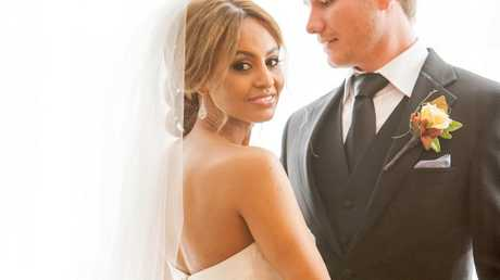 Zoe and Alex pictured at their wedding on Married At First Sight.