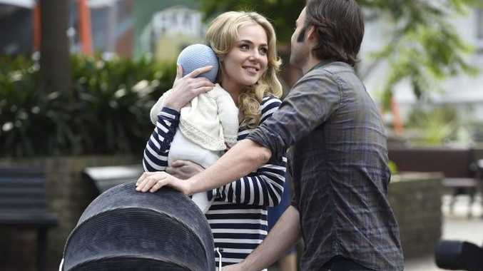 Jessica Marais and Matthew Le Nevez in a scene from Love Child.