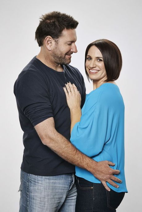 Married At First Sight participants Clare and Lachlan.