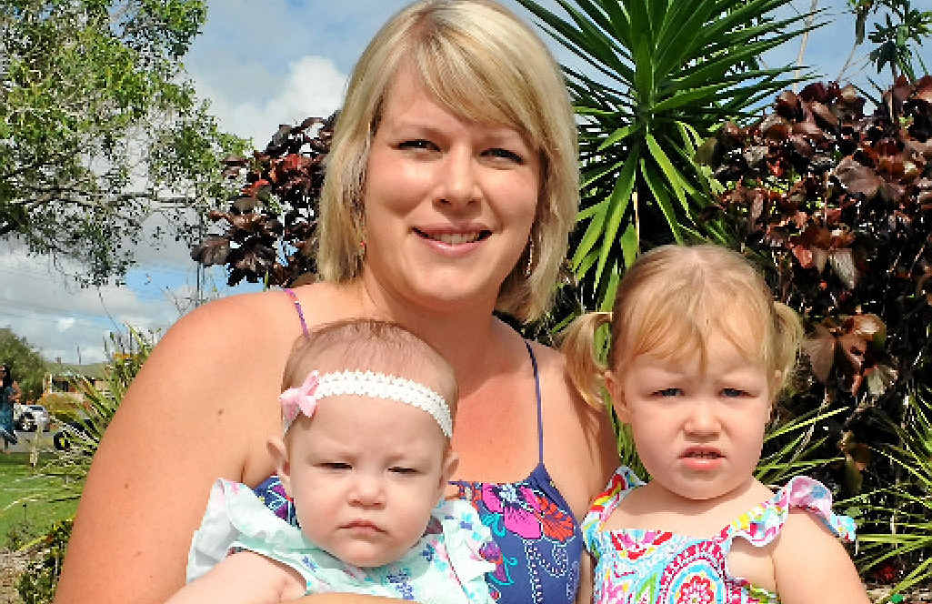WELCOMING PARTY: Zaria, Chantal and Vienna Bewick at last year's Welcome Baby Celebration.