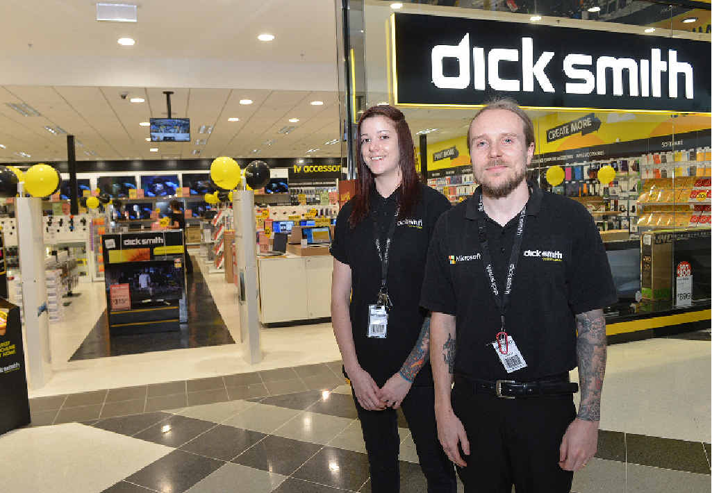NEW STORE: Kim Turner and Dean Huby are excited about the new Dick Smith store in Gympie Central which opened yesterday.