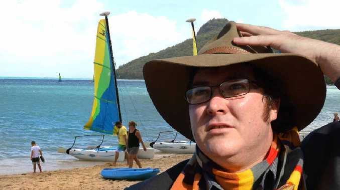 DREAMING OF THE TROPICS: George Christensen would love Parliament House to be on Hamilton Island. DIGITALLY ALTERED.