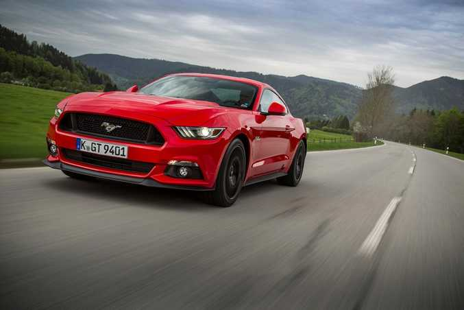 SOON ON OUR ROADS: Aussie Mustang shoppers have been mostly buying the 5.0-litre V8 Fastback version. Most popular colour? Red, of course. They go faster.