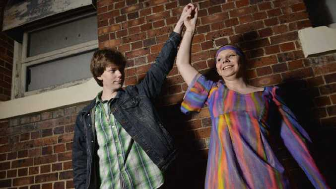 GROOVY BABY: Choir members Daniel Bryant and Gabi Dodds will be performing 70s classics on the weekend.