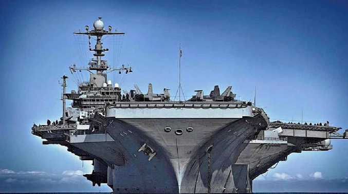 BIG GEORGE: The USS George Washington will be an imposing presence in Exercise Talisman Sabre 2015 after spending time wowing Brisbane.