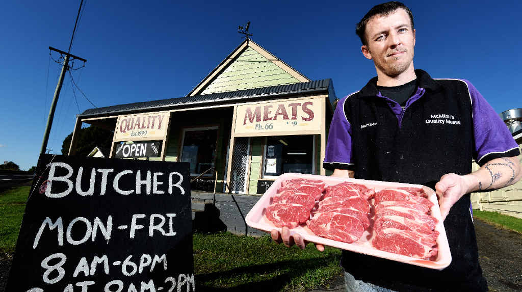 SERVICE WITH A SMILE: Butcher Matt McMinn says personal, one-on-one service keeps customers loyal to his Quality Meats business in Bexhill.