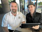 LAUNCHED: Matt Druce, of Sippy Downs and District Community Association (left), and Luke Humble, of 4556 Chamber of Commerce, encourage locals to use the new website.