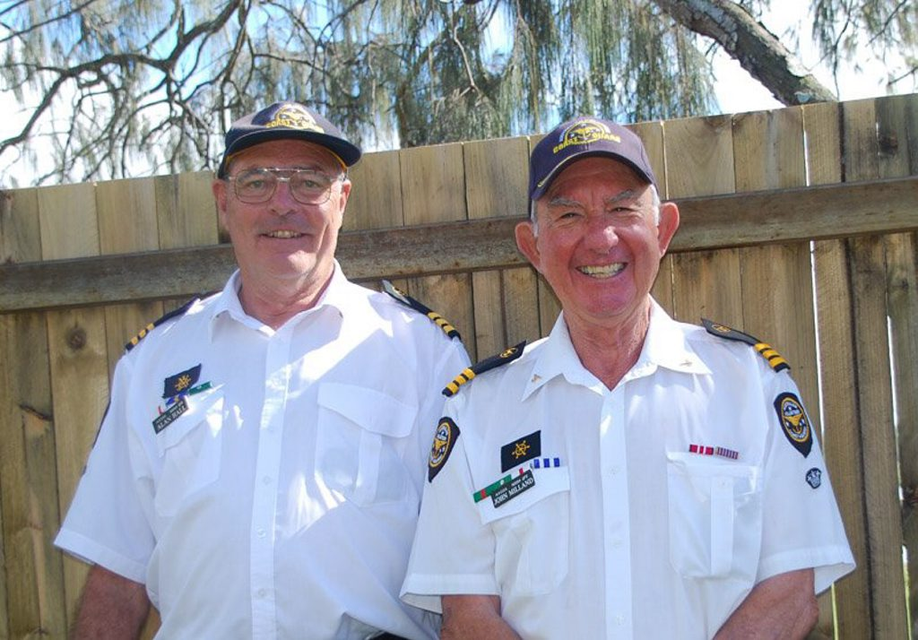 New Commander Alan Hall replaces John Milland at Noosa Coast Guard who is standing down from the top post he has held since 2011.