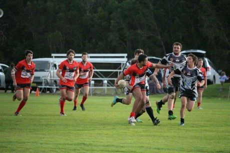 RED DEVILS: Byron Bay take it to the opposition. Photo: Tayla Clorley Photo Contributed