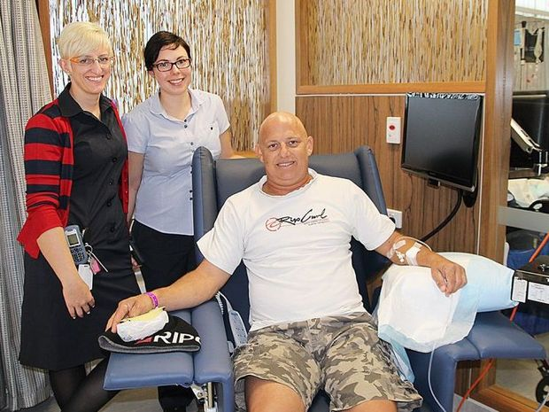 Patient Steve Hammermeister (above) is Rockhampton Hospital Cancer Centre's first patient.