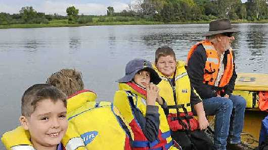 Grafton scouts at last year's Susan Island Open Day.