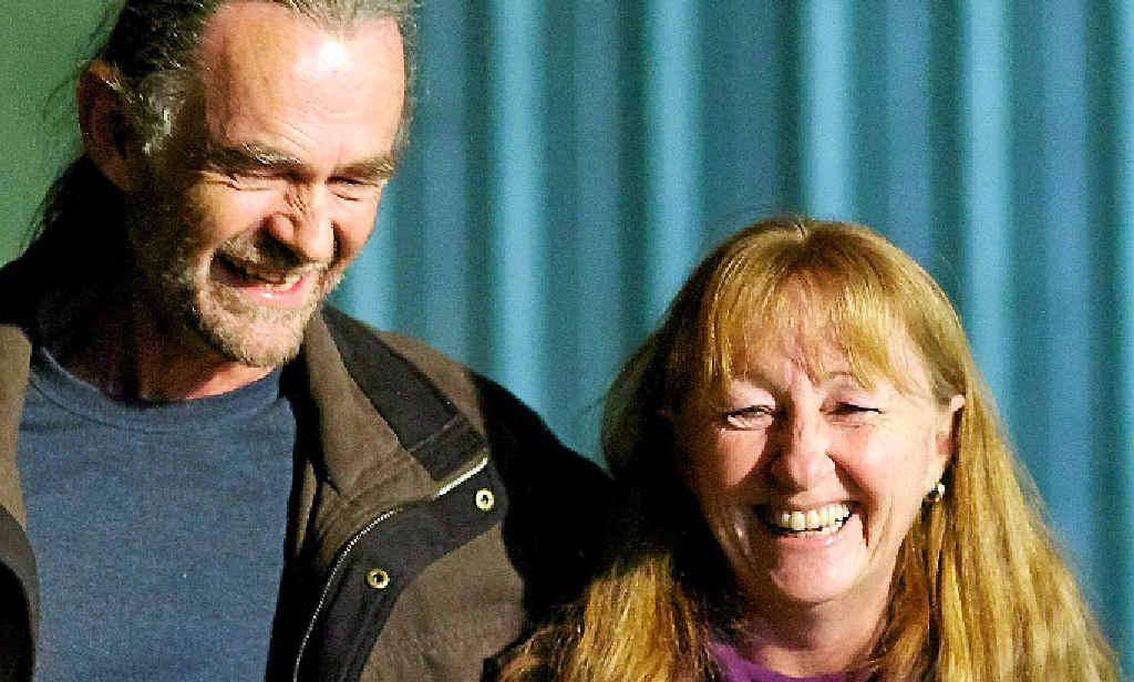 MOTOR NEURONE DISEASE: Katrina Jeffery says this is how she'll remember husband Chris.