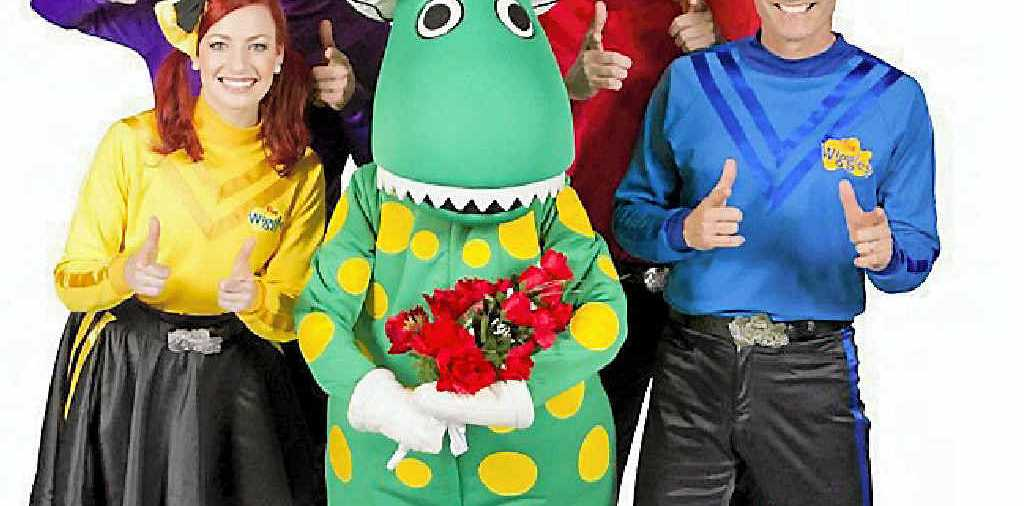 HOT POTATOES: Emma Watkins, Lachlan Gillespie, Simon Pryce and Anthony Field with Dorothy the Dinosaur (centre). Photo: Neil Hamilton-Ritchie