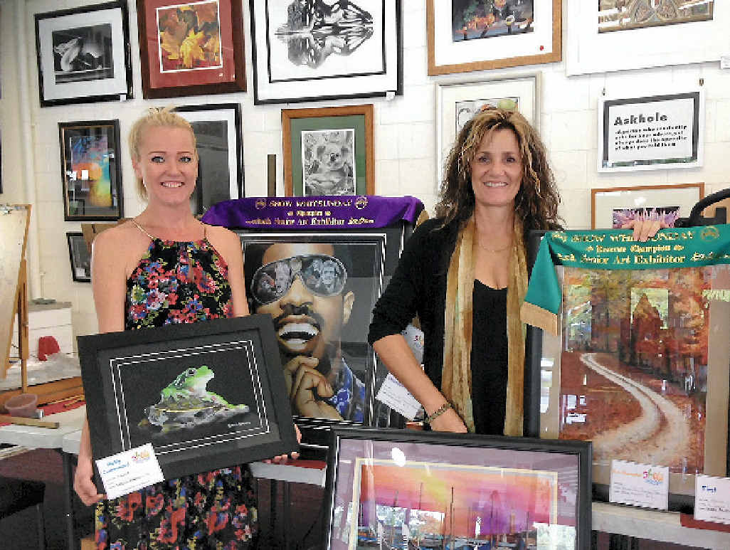 ART CHAMPS: Bek Roberts and Deb Murphy.