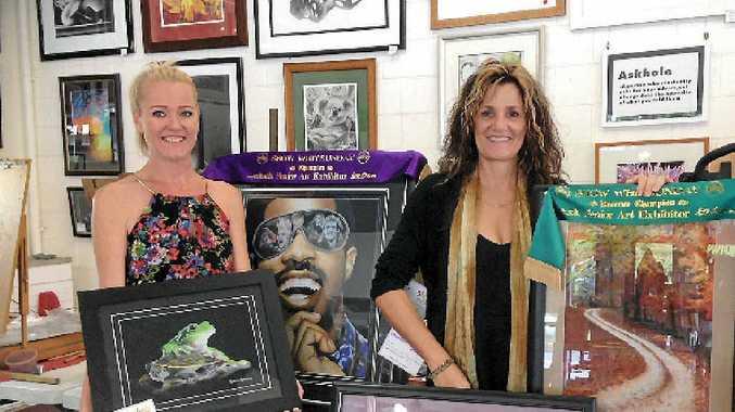 ART CHAMPS: Bek Roberts and Deb Murphy.