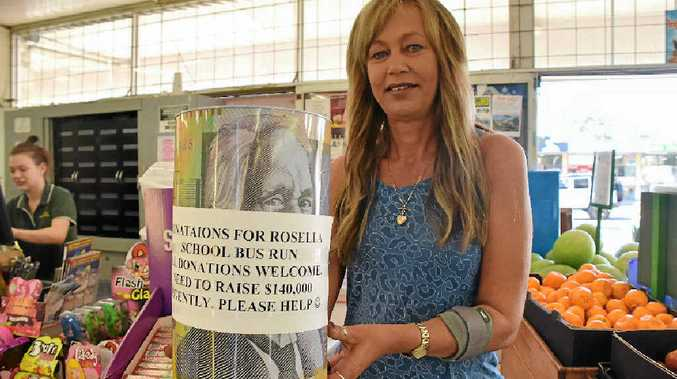 HELPING HAND: Ann Schafer at Rod's Food Market raising money to help the kids at Rosella Park School get a new bus.