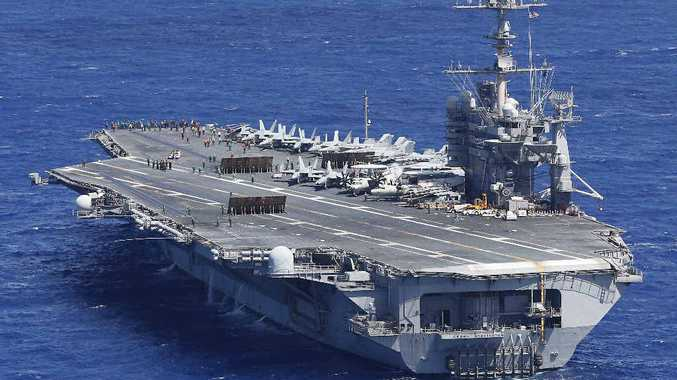 ON THE WAY: The US Navy aircraft carrier USS George Washington is headed to Central Queensland as part of Talisman Sabre. INSET: MP Michelle Landry will host Assistant Defence Minister Stuart Robert and Chief of Defence Mark Binskin for a visit to Talisman Sabre.