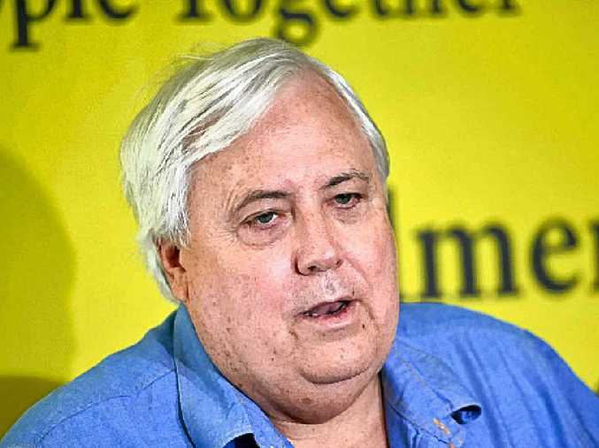 Clive Palmer says he'll work to reverse pension changes.