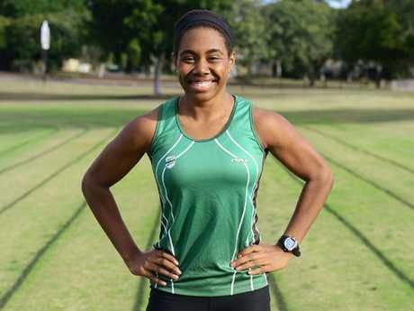 16-year-old Ipswich and District Athletics Club member Miriam Peni will be representing Papua New Guinea at the Pacific Games in the sprint events. Photo: David Nielsen / The Queensland Times