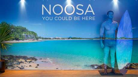 TEMPTING THE SOUTHERNERS: Noosa Tourism's winter marketing campaign You Could Be Here launched with a pop-up beach house in Melbourne's bustling Federation Square this week.