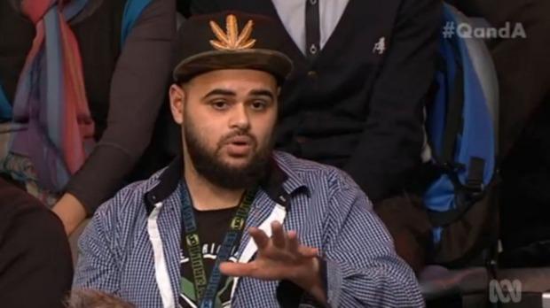 Zaky Mallah on Q&A; on Monday night.