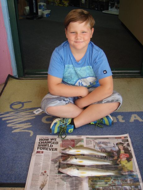 Ahme Graveson with three whiting