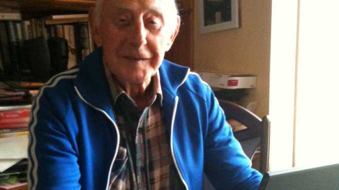 WALTER EGNJUN23 Caption: Modern technology such as Skype and the internet hold no fears for 86-year-old Walter Mair.