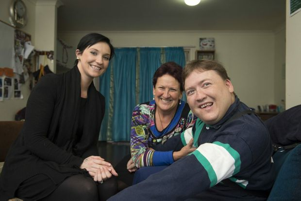 Fighting to bring reverse stroke therapy to Australia are (from left) Rebecca Darr, Coralie Graham and Joel Shepherd.