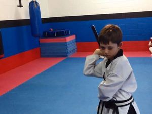 Karate kids show off their moves in the dojo