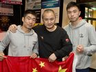 BIG FIGHT: ( From left ) Wang Xianghua, Liu Gang and Xu Chan are ready for the Smithy's Big Fight on Saturday 27th June . Thursday, Jun 25, 2015 . Photo . Nev Madsen / The Chronicle