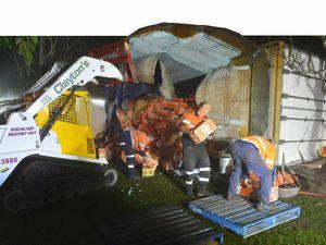 Good mandarins lost in truck rollover on highway