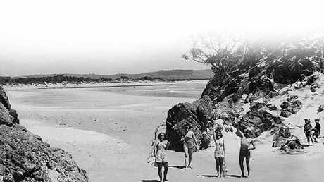 Byron Bay Beach before the village developed into a multi-million dollar seaside town.