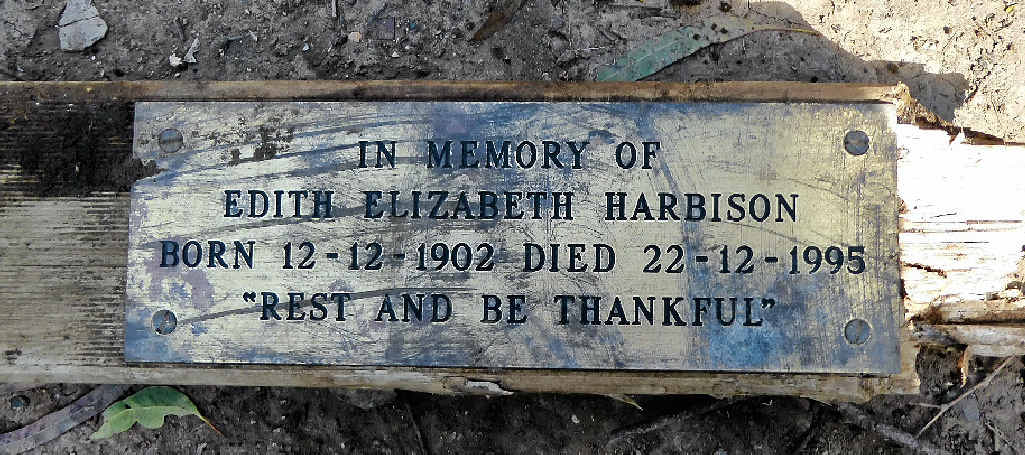 The plaque found by members of Friends of the Escarpment Parks Toowoomba in a creek at Redwood Park.