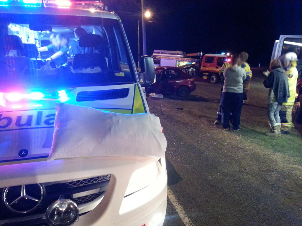 A serious traffic crash at Gatton overnight.