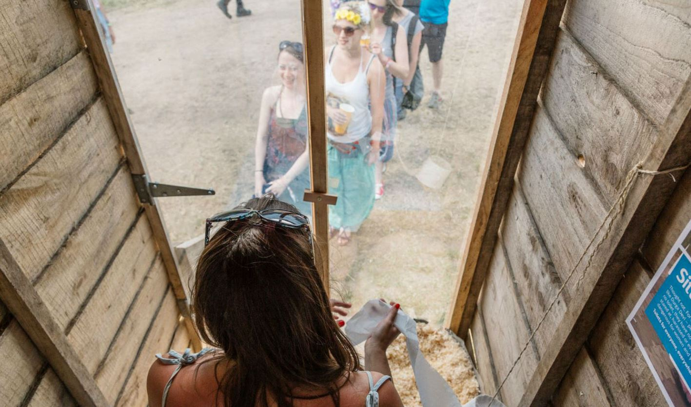 Glastonbury music festival's loo with a view