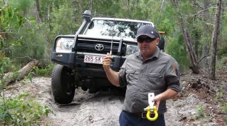 Photojournalist Kristy Muir visited Fraser Island in March for a four-wheel driving adventure. There was so much to see and do. Pictured: Australian Offroad Academy instructor Dave Darmody demonstrating the recovery of a vehicle that was stuck on a hill. Photo Kristy Muir / Sunshine Coast Daily